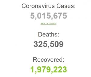 В мире уже 5 миллионов случаев КОВИД