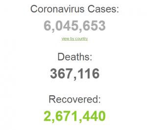 6 миллионов заражений COVID-19 в мире