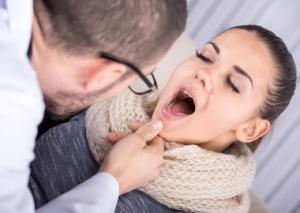 иагностирование гнойной ангины