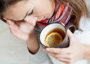 Чай с лимоном при горнатанной ангине