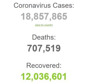 Более 700 000 человек умерло от COVID в мире