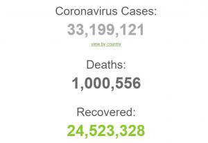 В мире зафиксирован 1 миллион смертей от COVID-19